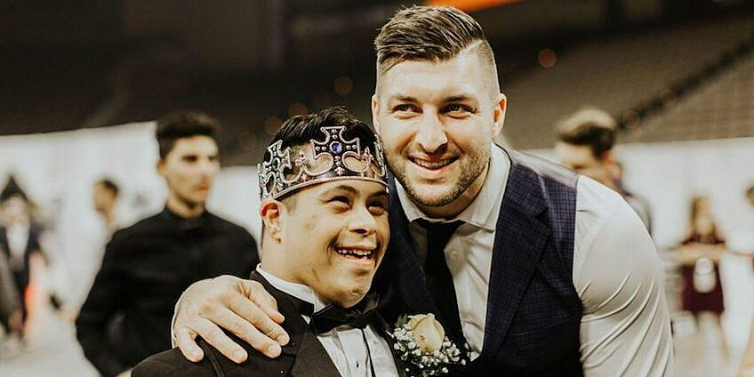 Former NFL star and current MLB rookie Tim Tebow and his faith-based, nonprofit foundation organize hundreds of Night To Shine events each Valentine's Day – a prom for people with disabilities, a night for each of them to be treated like kings and queens. Night To Shine in 2017 grew to more than 350 events in 11 countries, with 75,000 people with disabilities attending as honored guests.