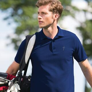 This Kerusso ACTIVE polo featuring an embroidered cross logo makes a subtle statement of your faith, whether you are teeing it up out on the golf course, serving it up on the tennis court, or meeting up at the office, school, or church.