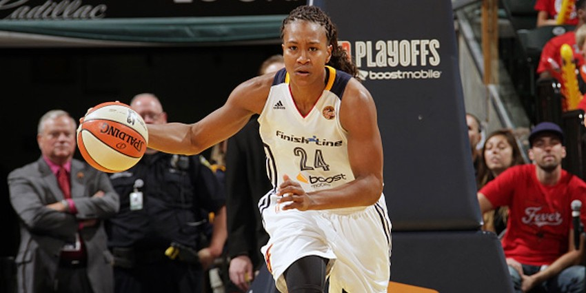 The most-decorated women's pro basketball player, Tamika Catchings, relies on her faith and relationship with Christ to keep her centered and moving forward, she says. Photo by Ebony Magazine.